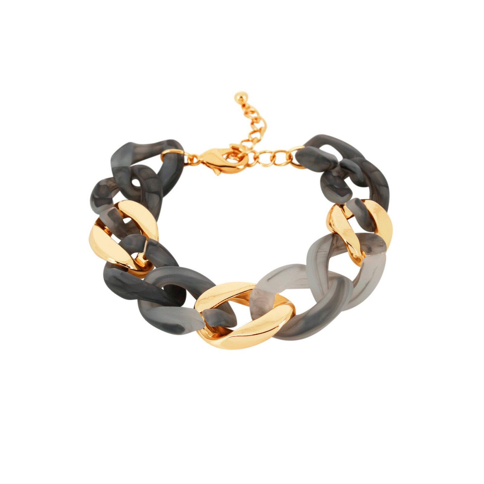 Armband, DNSK, Quiver Curb Ash/Guld