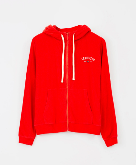 Hoodie, Lexington, Carolin Terry, Red