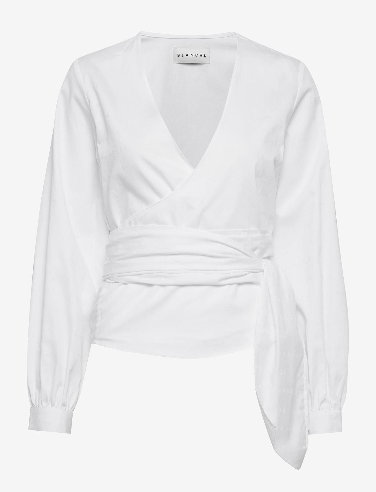 Blus, Blanche, Ella Logo Twist Shirt