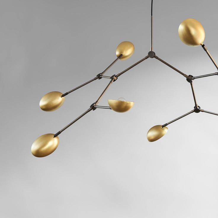 Lampa, 101 Copenhagen, Drop Chandelier, Brass