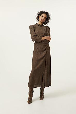 Klänning, Gestuz, Elay Long Dress, Brown Logo