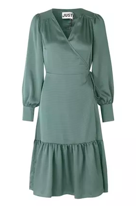 Klänning, Just Female, Minnie Wrap Dress, Balsam Green