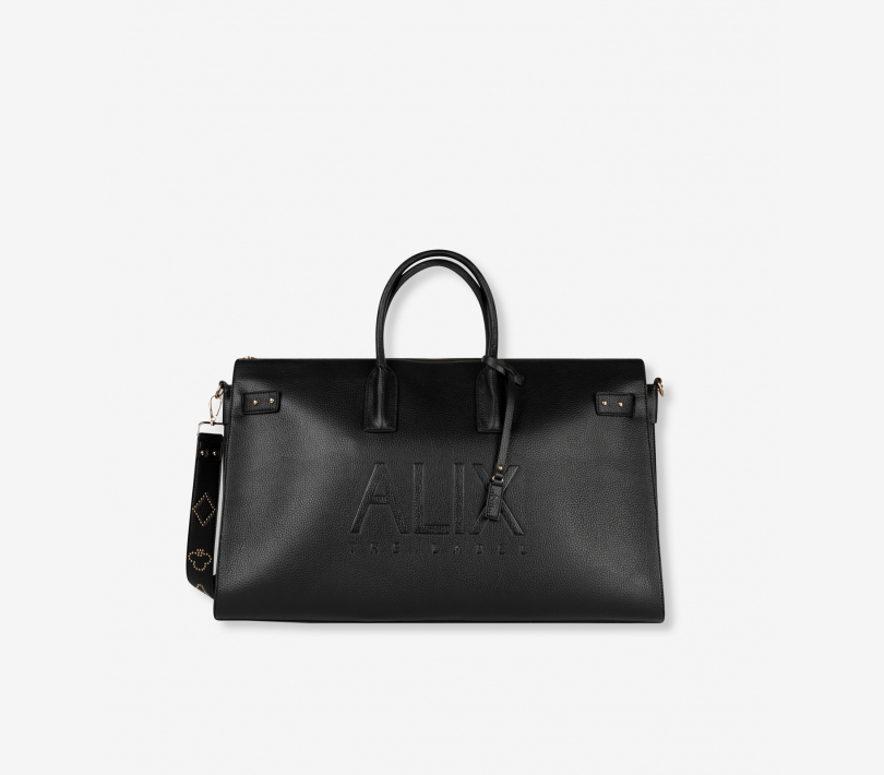 Väska, Alix, Faux Leather bag, Black L