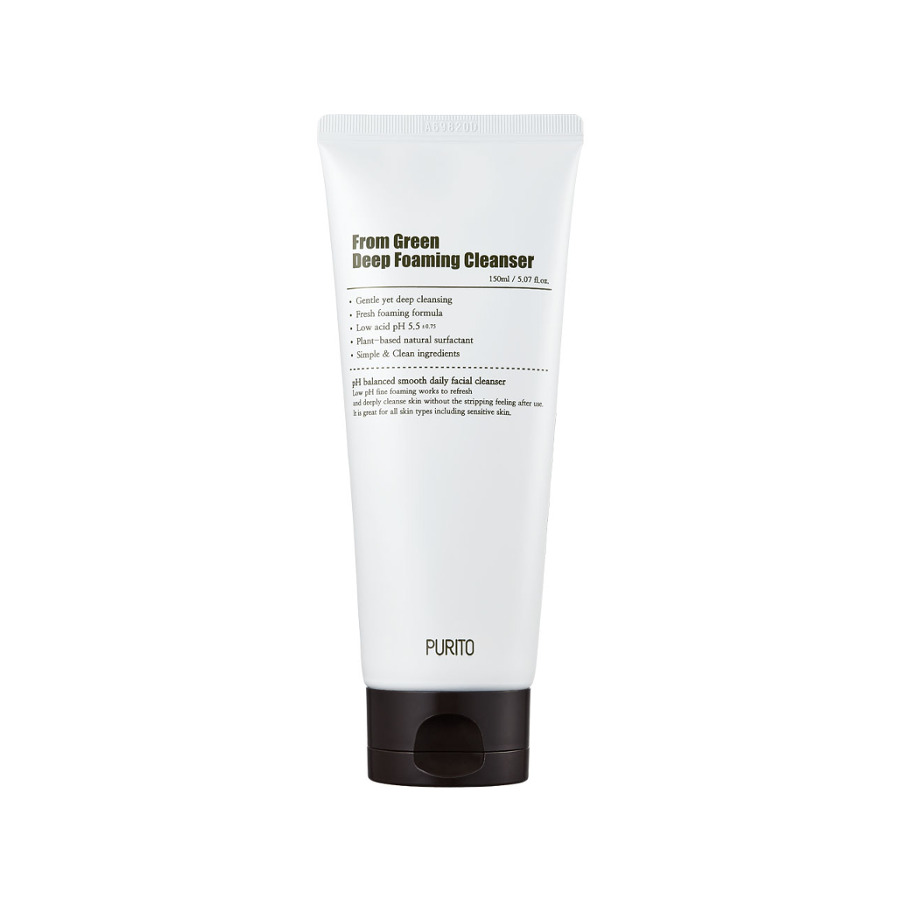 From Green Deep Foaming Cleanser, Purito