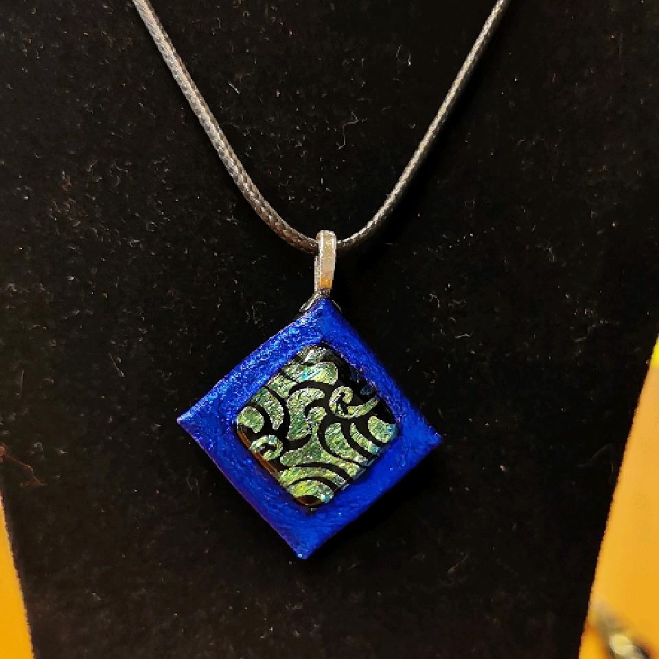 Grethes glass smykker, blå/grønn/svart