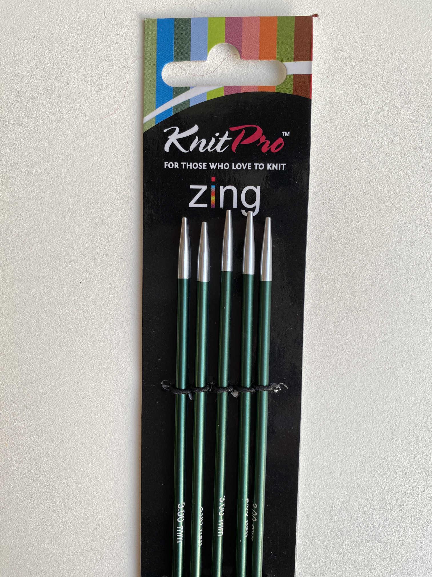 Knit Pro Zing DPNs - 15cm