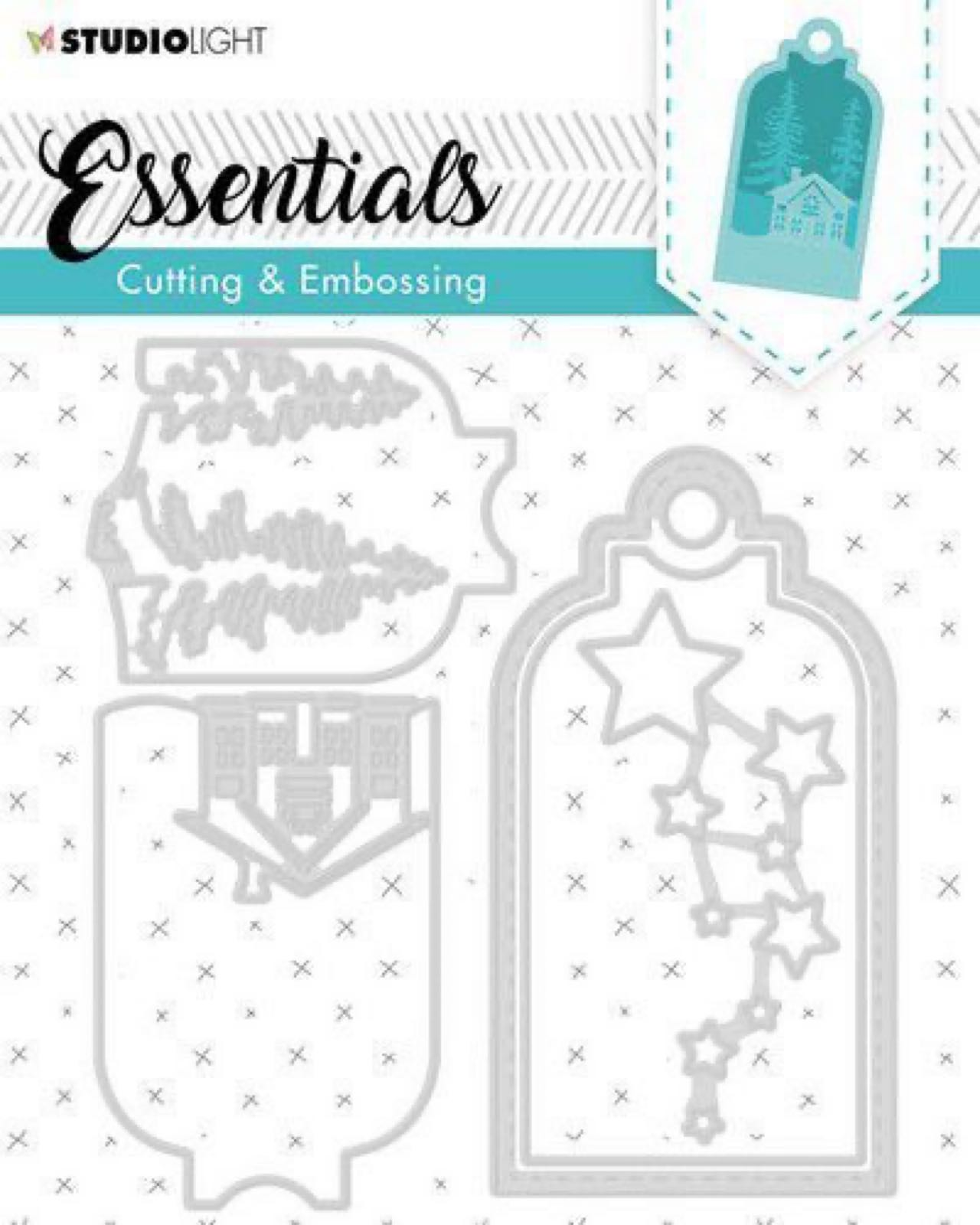 StudioLight essentials cutting & Embossing  STENCILSL320, tag die.