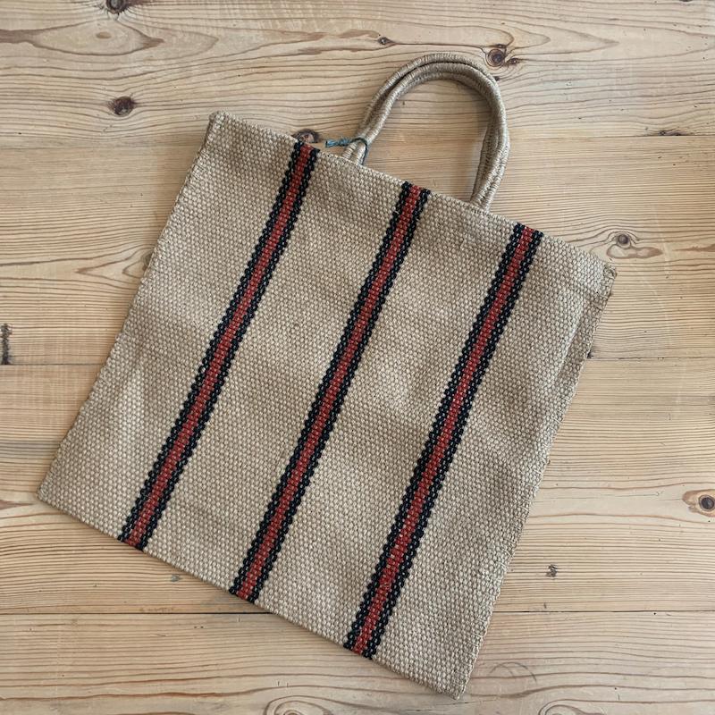 Striped Jute Bag
