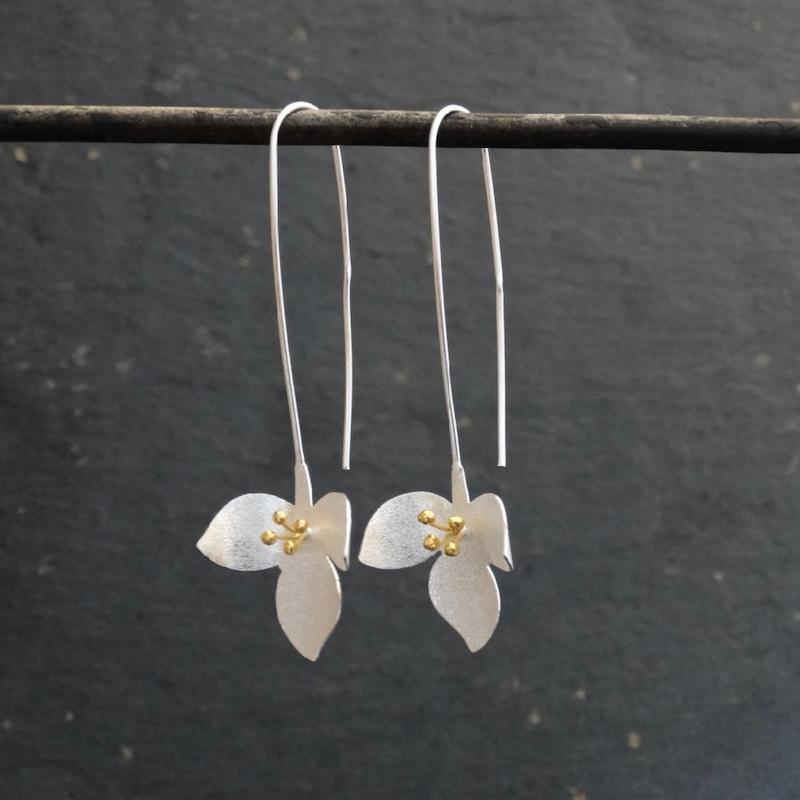 Long Floral Earrings