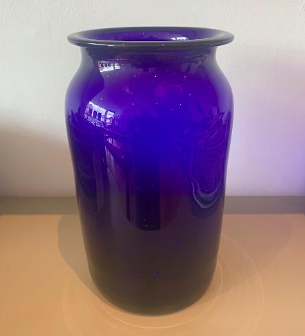 Vintage Apothecary Cobalt  Blue Vase