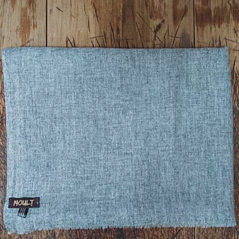 Large Wool light Grey Scarf
