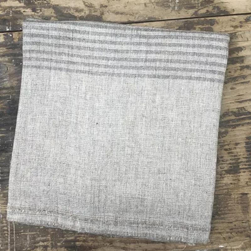 Brown Narrow Stripe Wool Scarf