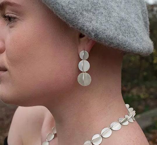 Colubrid Drop Earrings 925 Silver