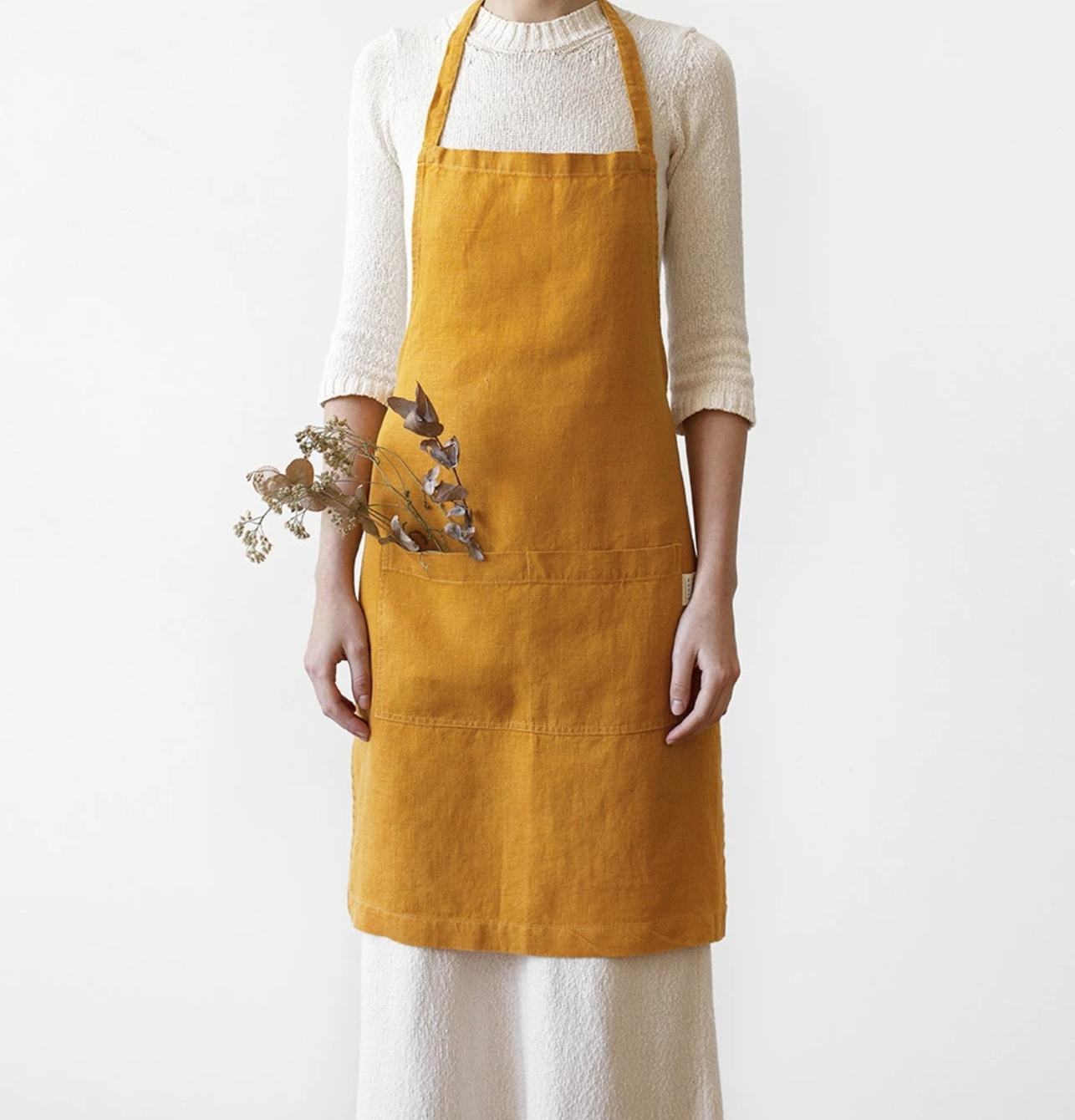 Washed Linen Daily Apron