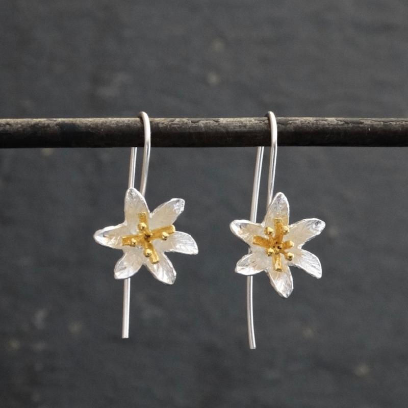 Lily Flower Drop Earrings