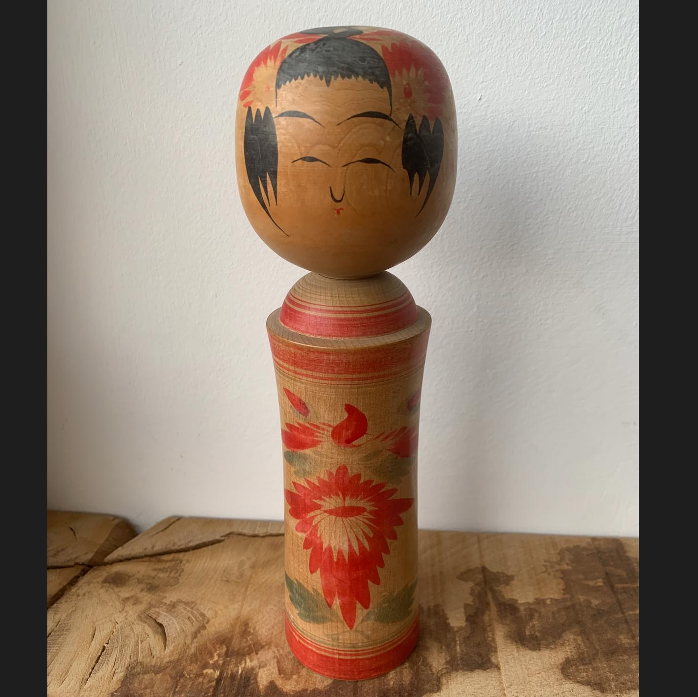 Vintage Kokeshi Doll 10j