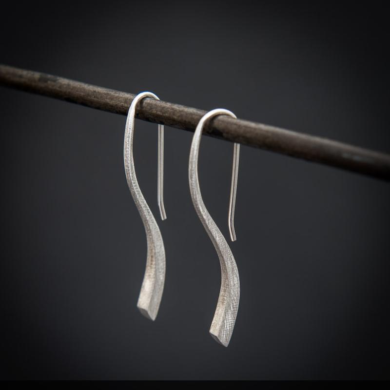 Silver 'Flick' Earrings