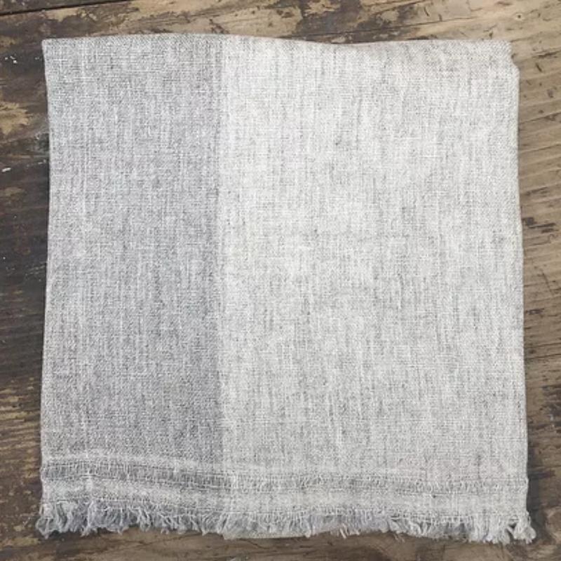 Block Stripe Wool Scarf