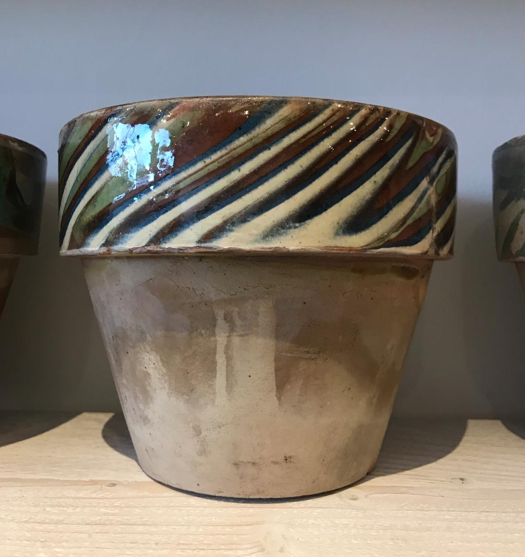 Glazed Rim Terracotta Pots