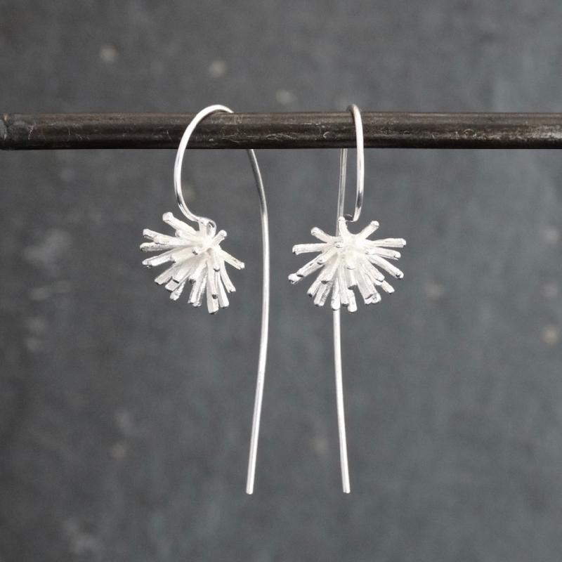 Textured Long Hook Earrings