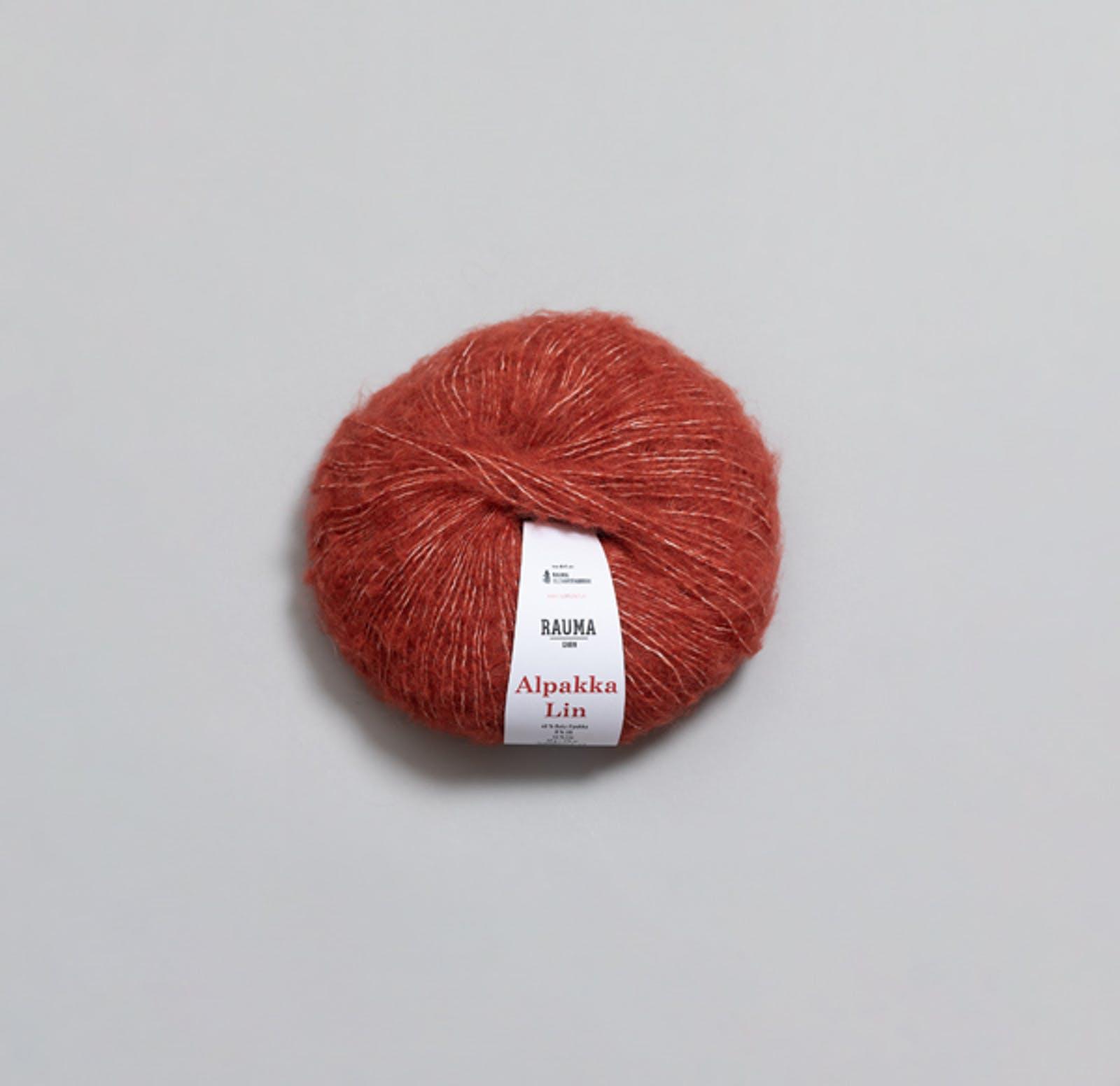 6932 Dempet rød - Alpakka Lin