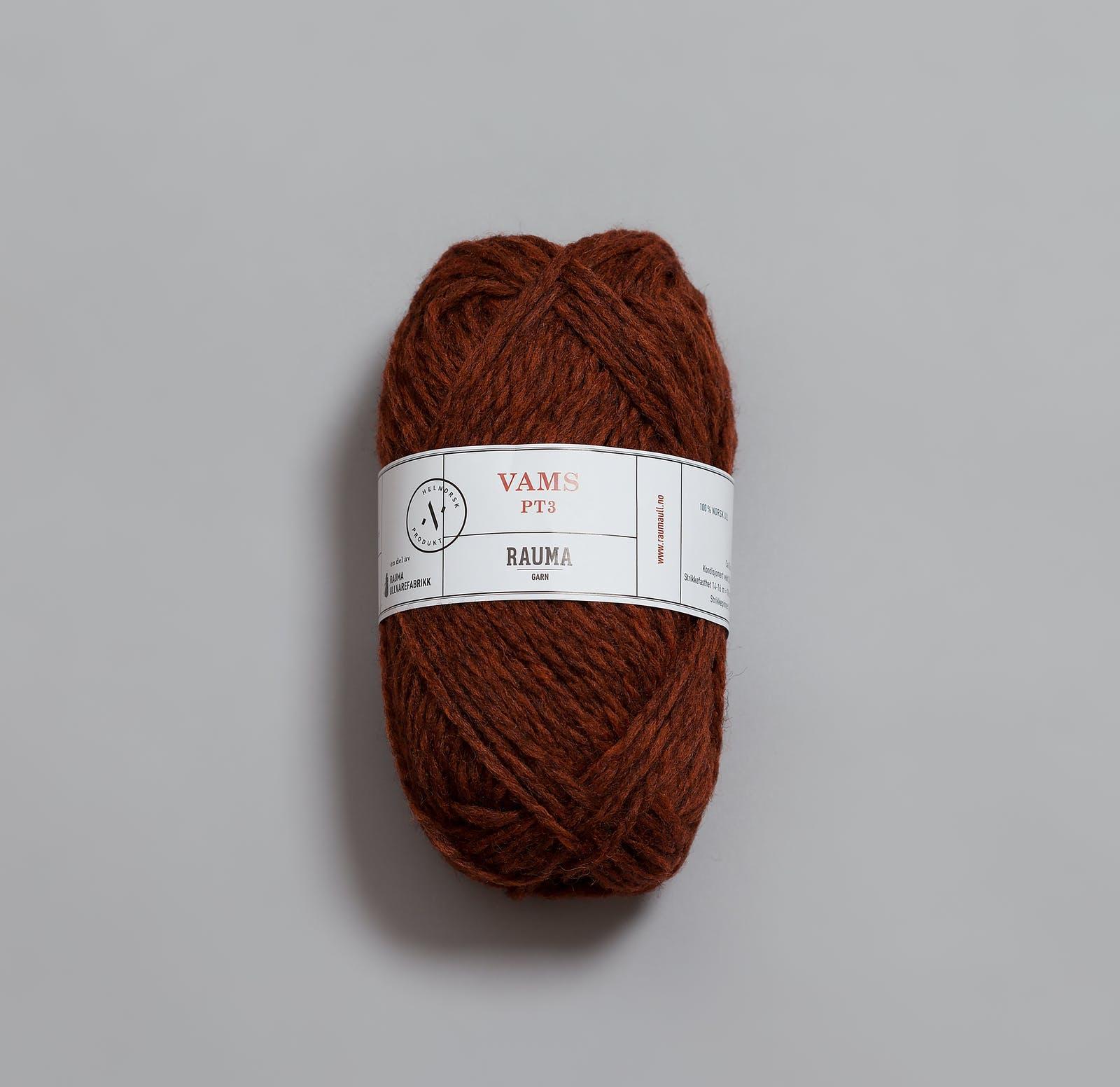 401 Mørk melert rustrød  - VAMS/PT3