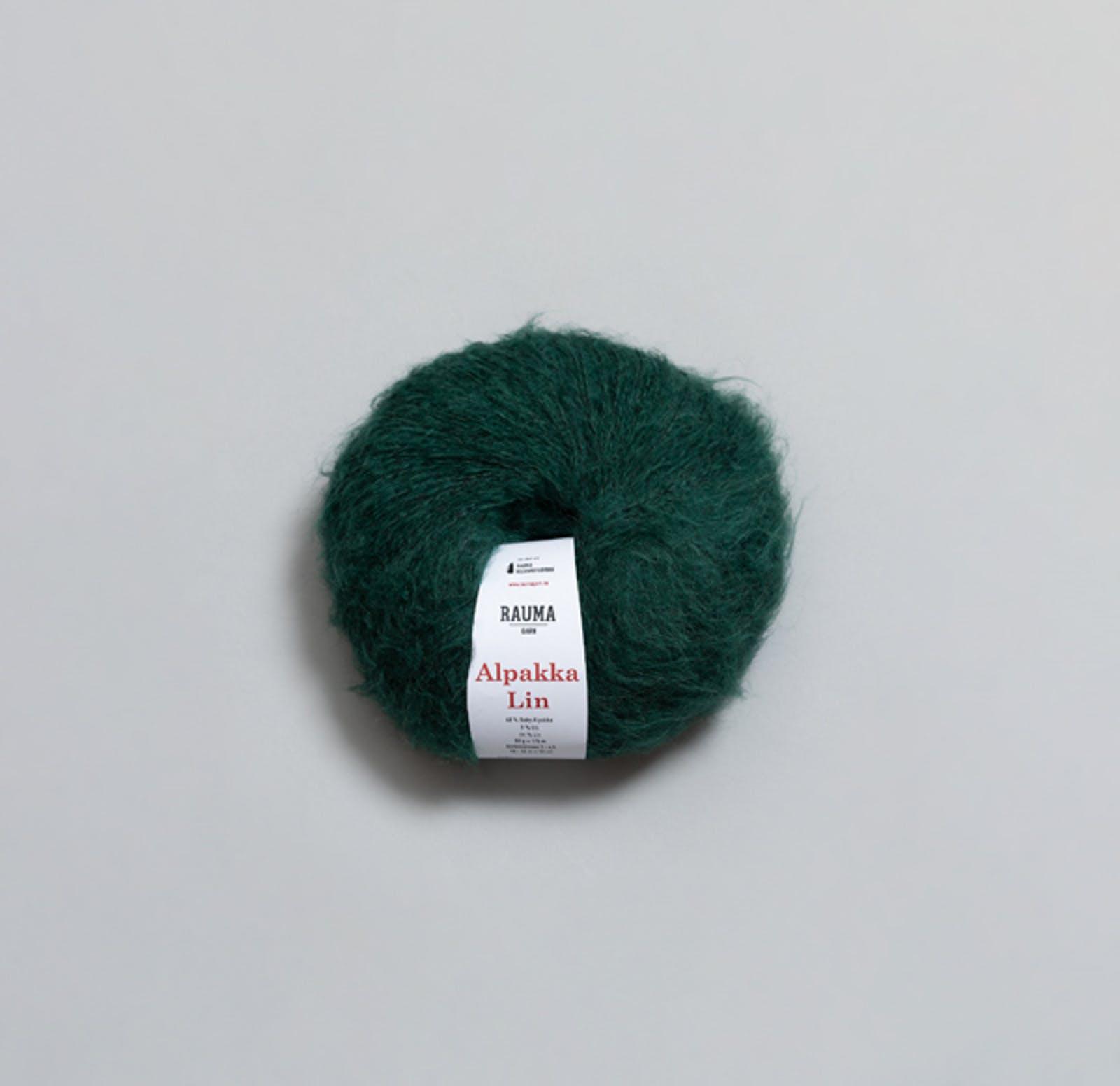2385 Smaragdgrøn - Alpakka Lin