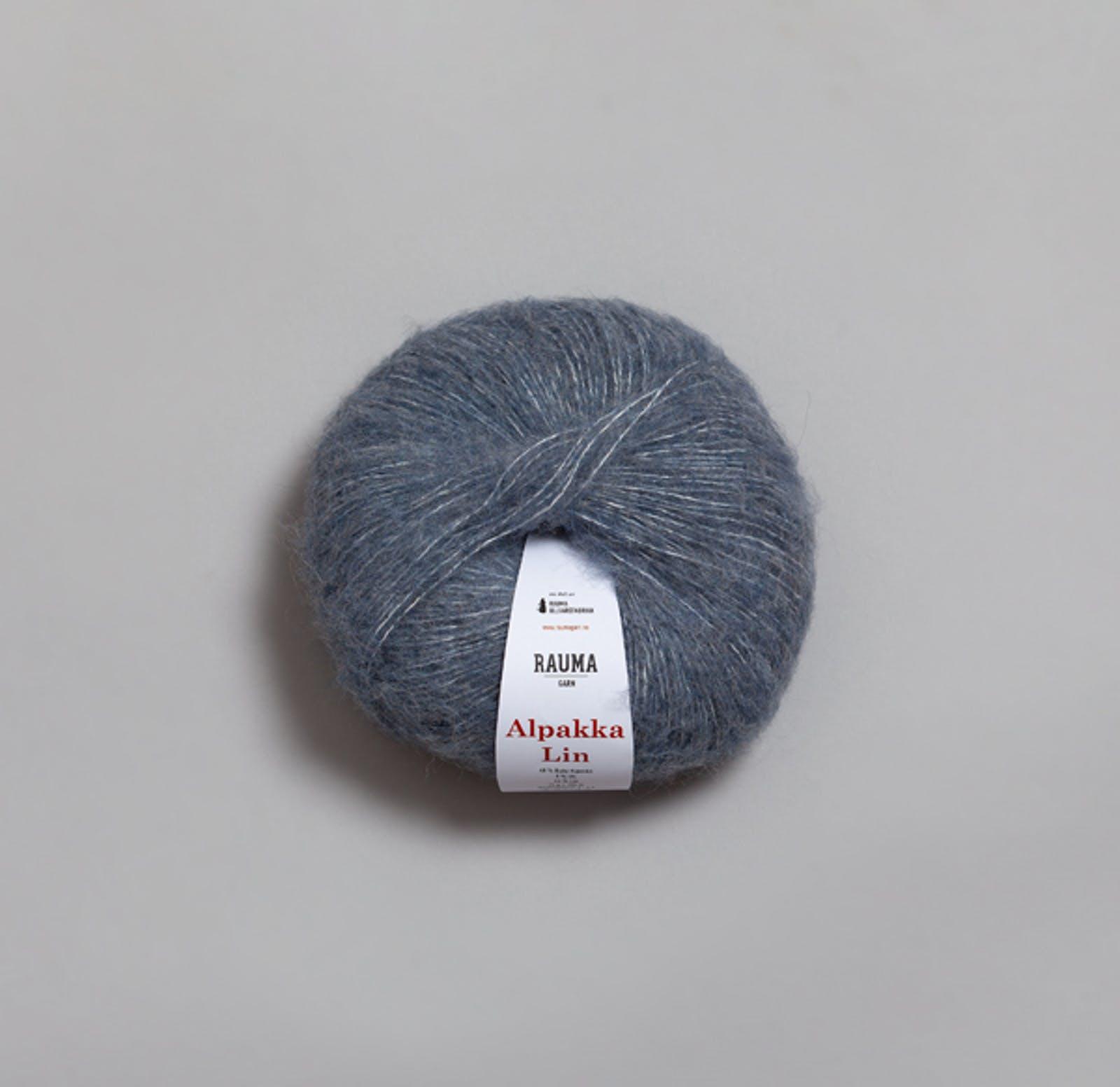 6555 Jeansblå - Alpakka Lin