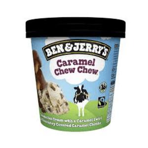 Ben and Jerrys 465ml Caramel Chew Chew