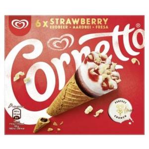 6 x 540ml Cornetto Strawberry Multipack