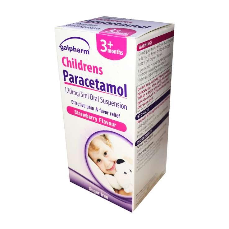 Galpharm Childrens 3+ Months Paracetamol Oral Suspension 100ml - Strawberry