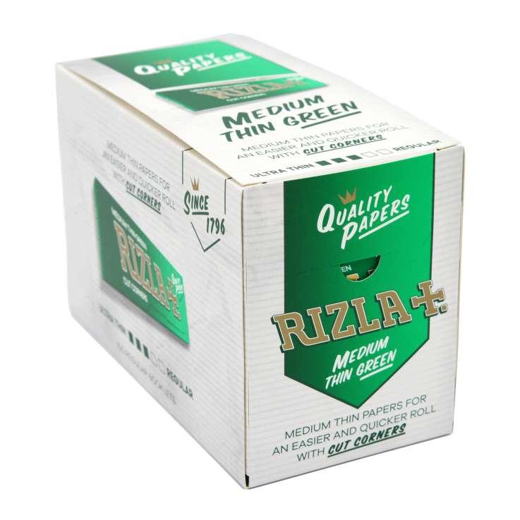 Rizla Green Medium Thin Rolling Papers 50 Pack - Regular