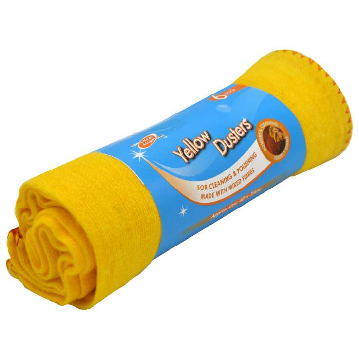Homeware Essentials Yellow Dusters 6 Pack