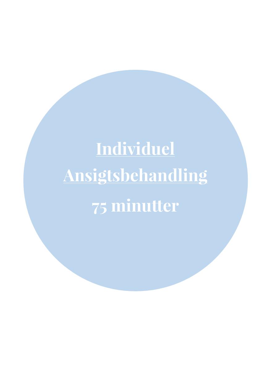 Individuel Ansigtsbehandling 75 minutter