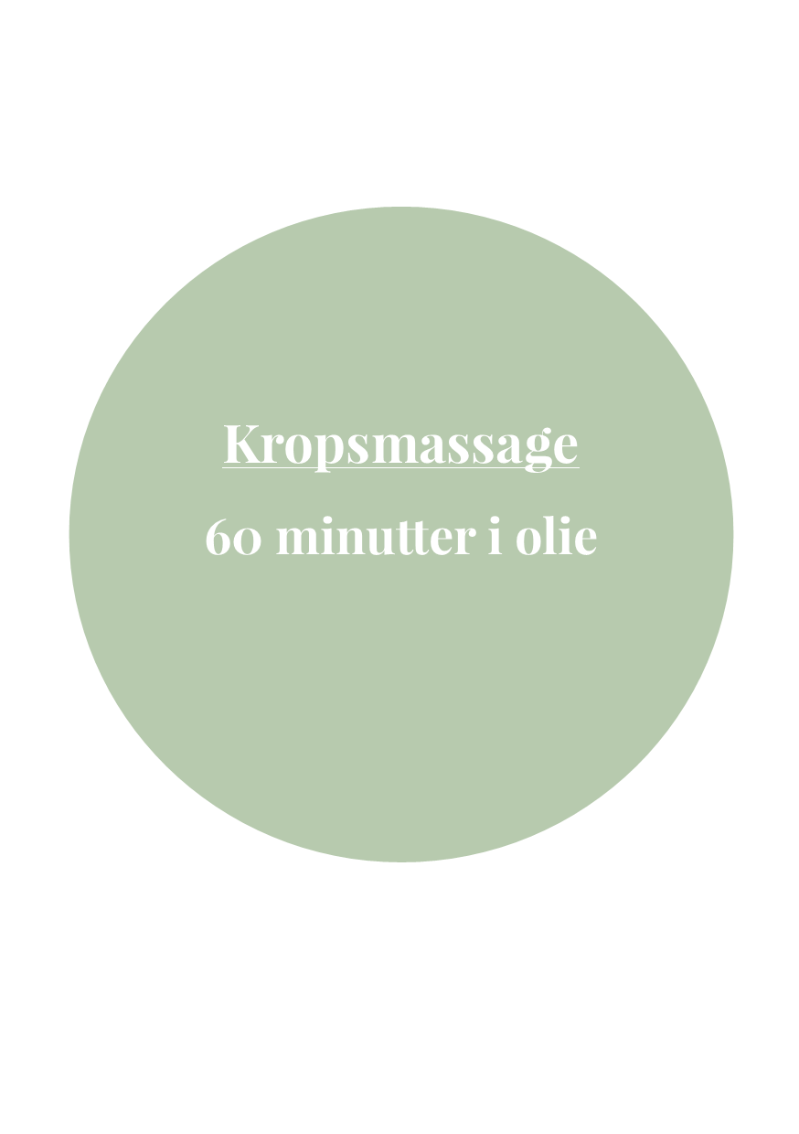 Kropsmassage - 1 Time