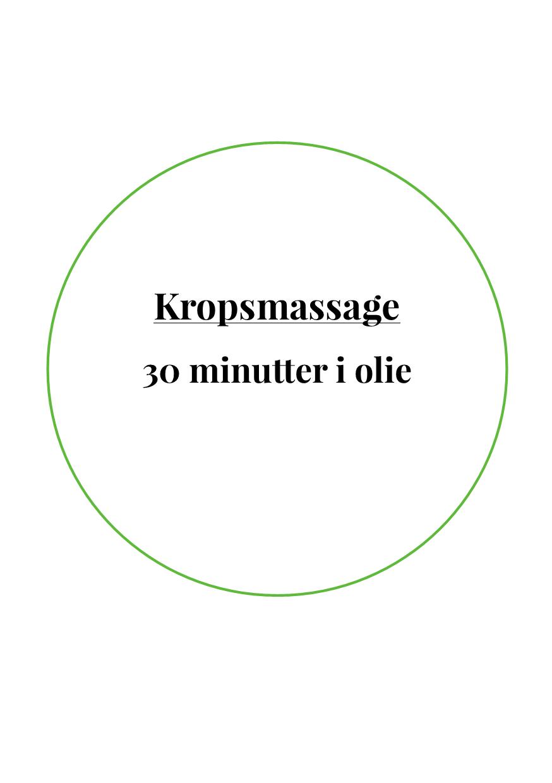 Kropsmassage 30 Min