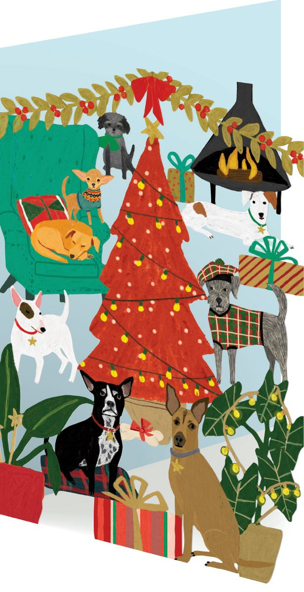 Christmas Dogs - Cutout
