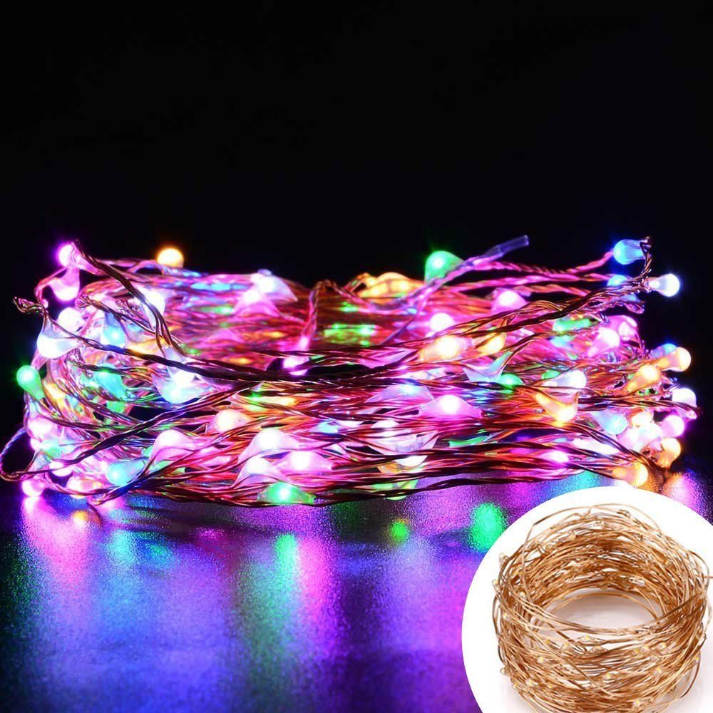 Copper Fairy Lights (Multicoloured)