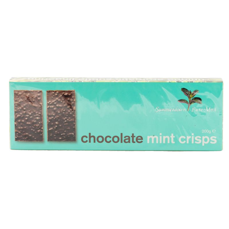 Summerdown chocolate mint crisps 200g