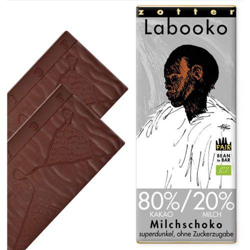 Zotter Labooko Super Dark No Sugar Milk 80% 65g