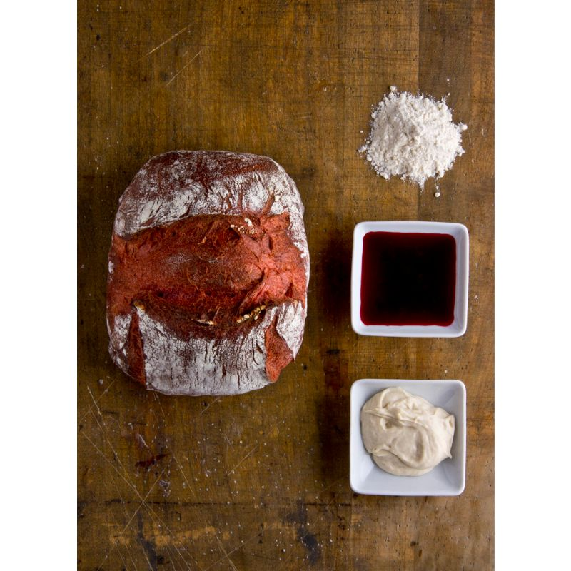 C French rustic bread, beetroot 270g