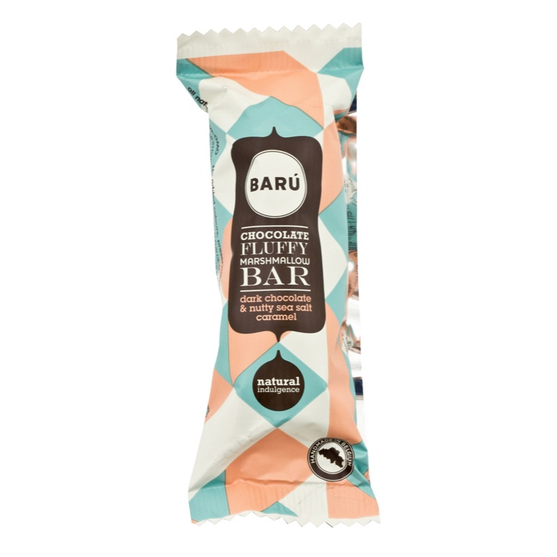 Baru Marshmallow Bar Dark Chocolate Nutty Sea Salt Caramel 30g