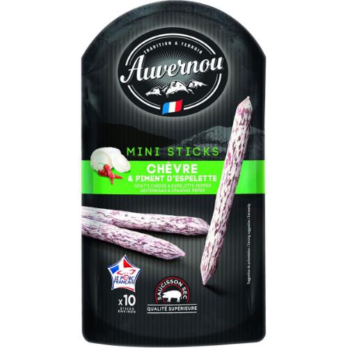 Auvernou* Mini sticks Chévre & Piment d'Espelette 100g