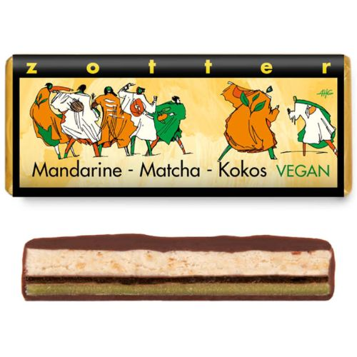 Zotter Tangerine, Matcha and Coconut 70g