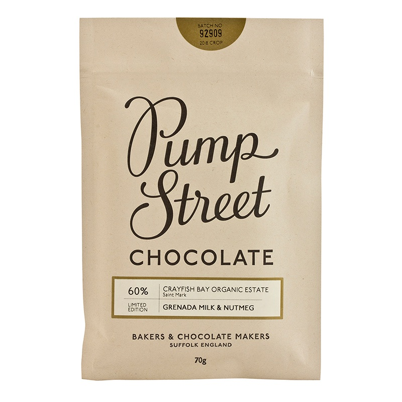 Pump Street Grenada Milk and Nutmeg 60% 70g