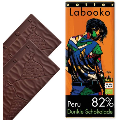Zotter Labooko Vegan 82% Peru Criollo Blend 70g
