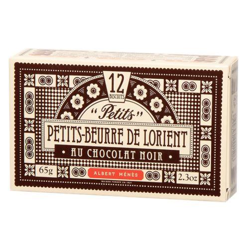 Menes Petits Beurre de Lorient Dark Choc. Biscuits 65g