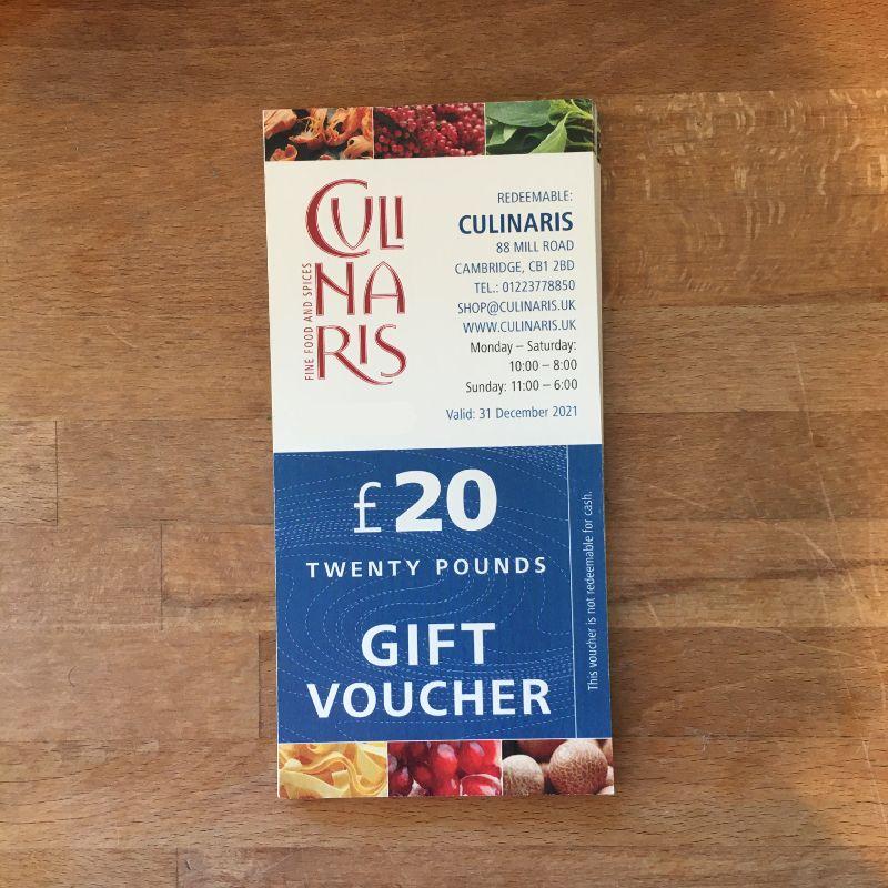 Culinaris Gift Voucher £20