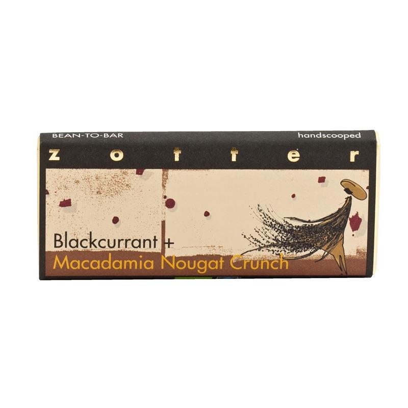Zotter Blackcurrant + Macadamia Nougat Crunch 70g