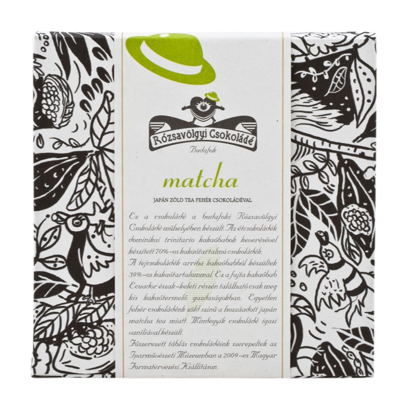 Rózsavölgyi White chocolate bar with Matcha tea 70g